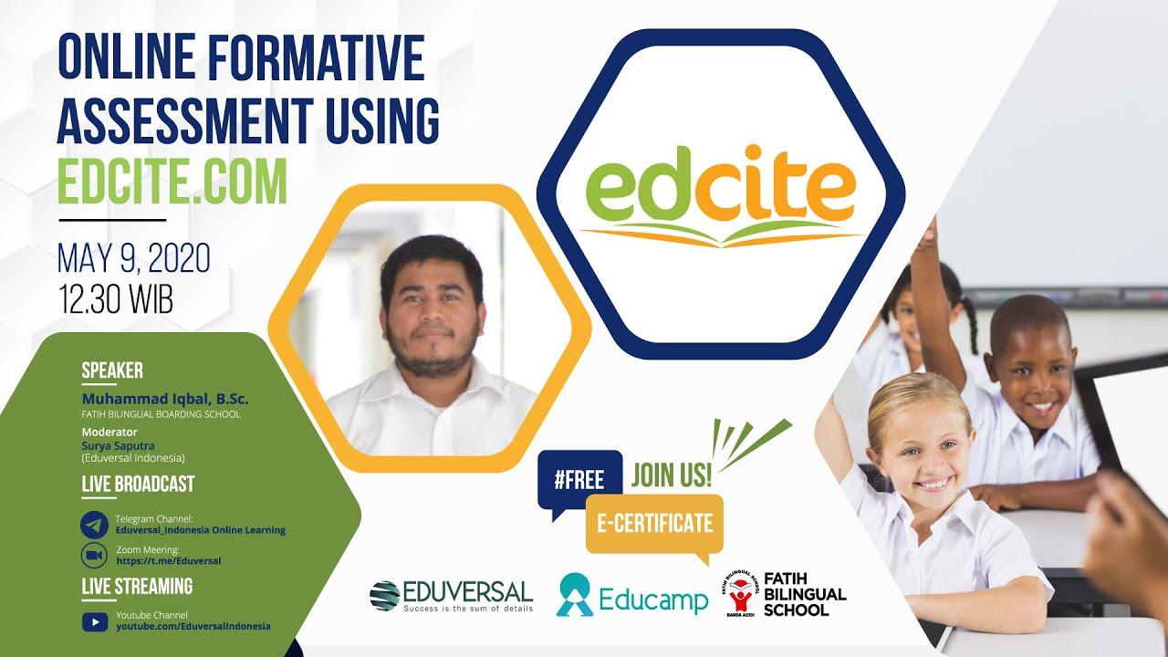Online Formative Assessment Using Edcite.com