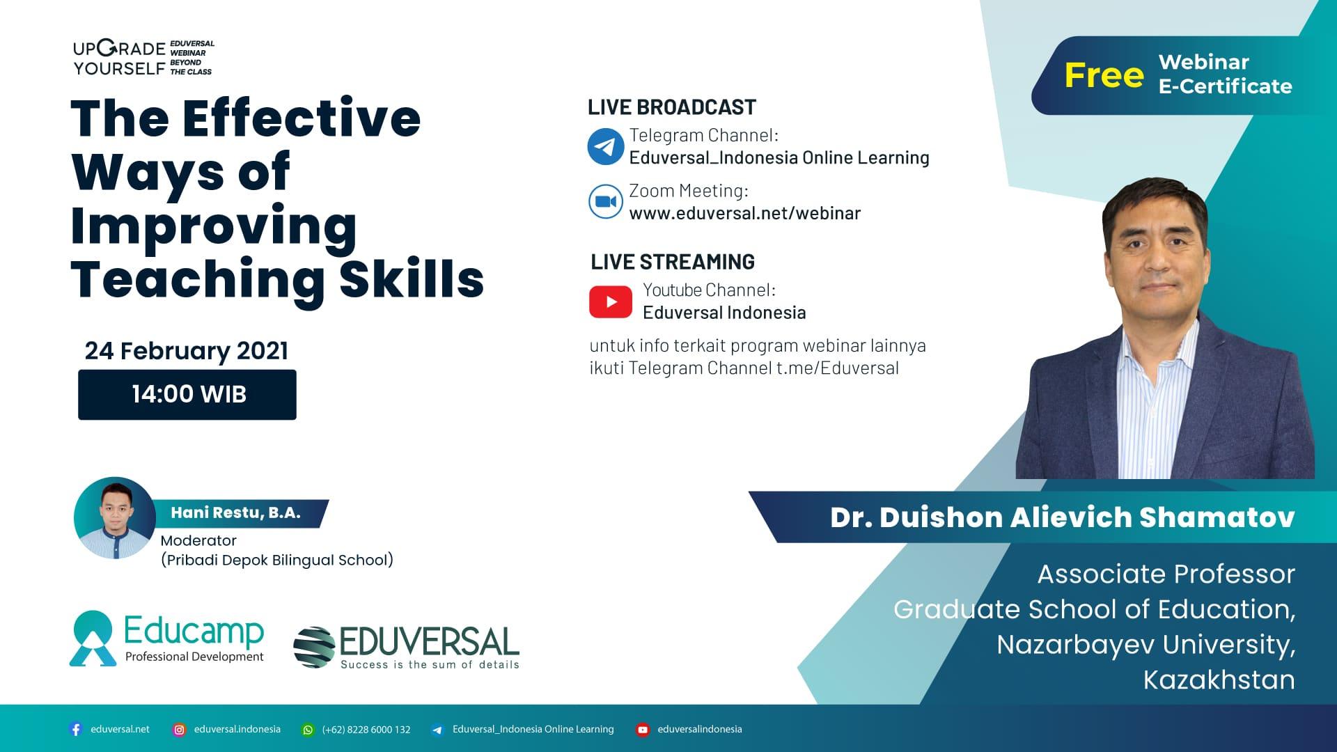 The Effective Ways of Improving Teaching Skills